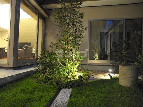 施工例「エクステリア照明、庭デザイン」|兵庫県姫路市